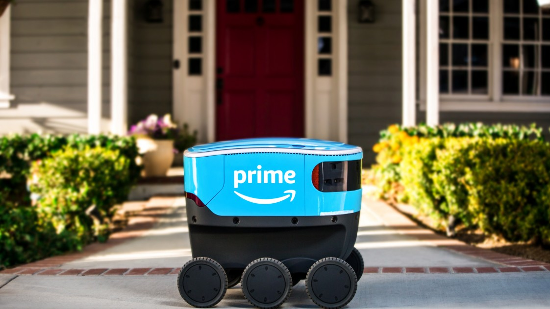 Picture of Amazon Scout delivery robot