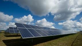 A solar farm.