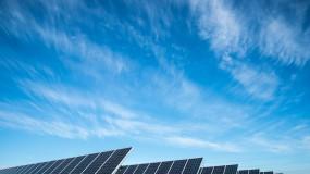 A solar farm in Lincoln, Nebraska.