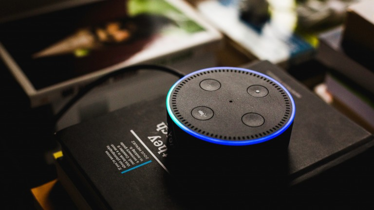 Amazon's Echo Dot is powered by Alexa.