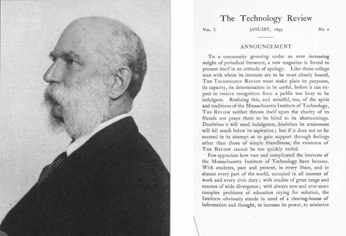 Photo of MIT Technology review's 1899 issue