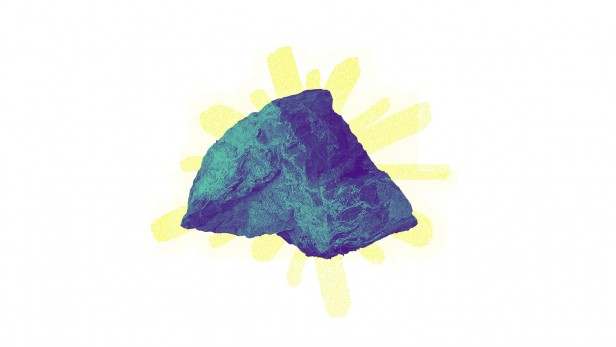 A conceptual illustration of anticrispr. The rock in rock paper scissors