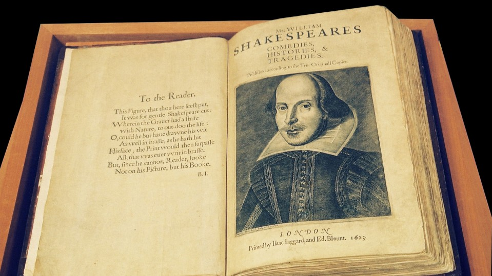 Photograph of Shakespeare manuscript