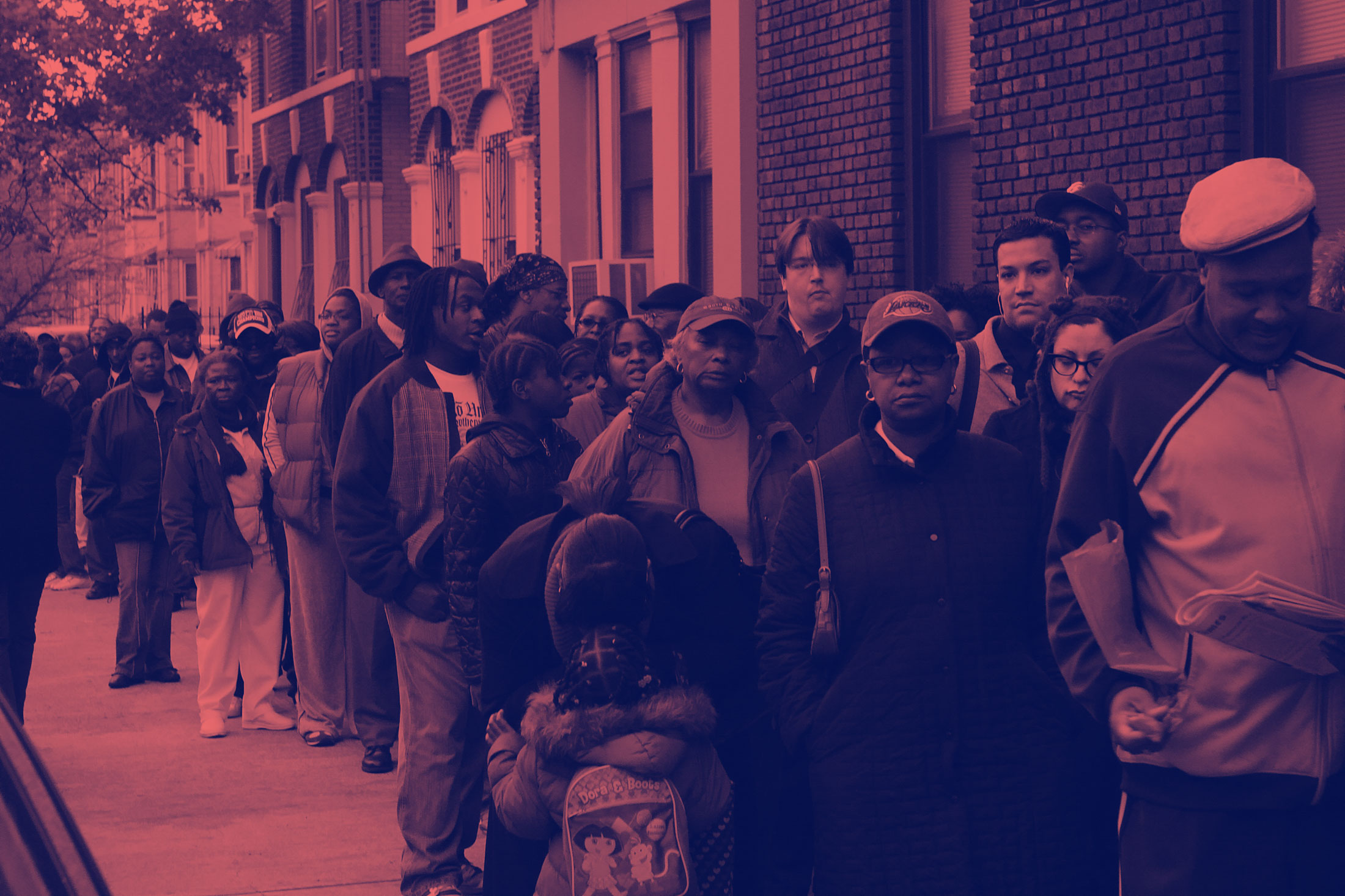 Data mining shows black people waited longer than white to vote in 2016