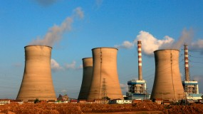 A coal-fired power plant in Huai'an city, east China's Jiangsu province.