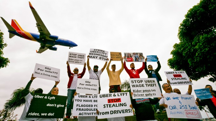 Uber and Lyft Drivers protest