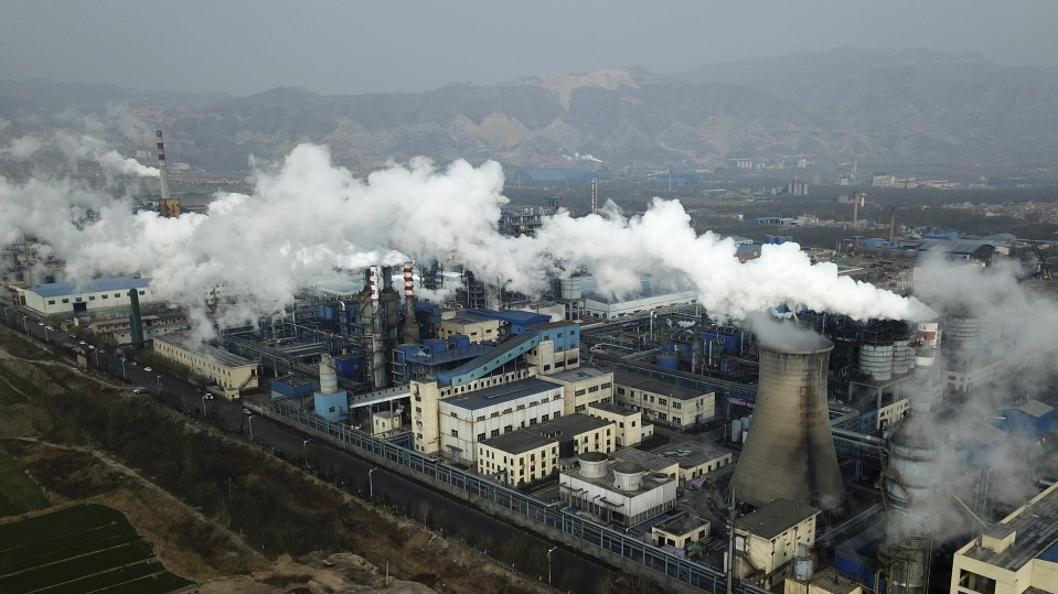 A coal processing plan in China's Shanxi Province.