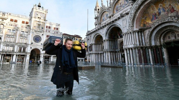 Flooding in San Marco, Venice