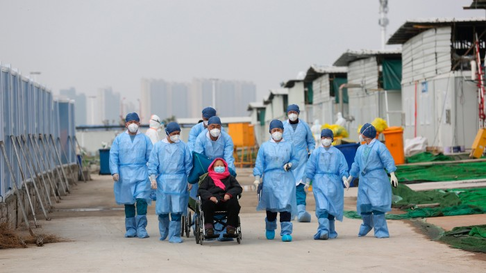 patient in Wuhan being discharged to observational facility