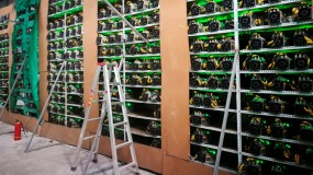Bitcoin mining machines running in China's Sichuan province