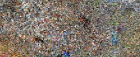 A gridded image collage of thousands of photographs