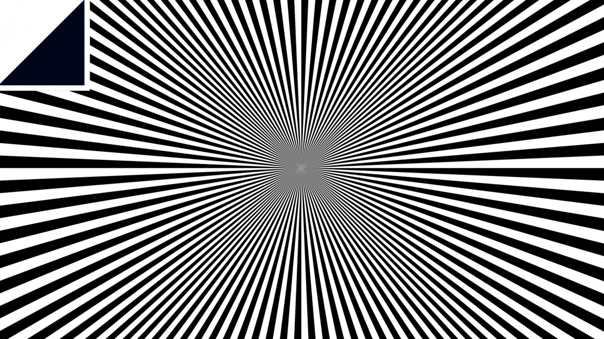Image of black and white optical illusion
