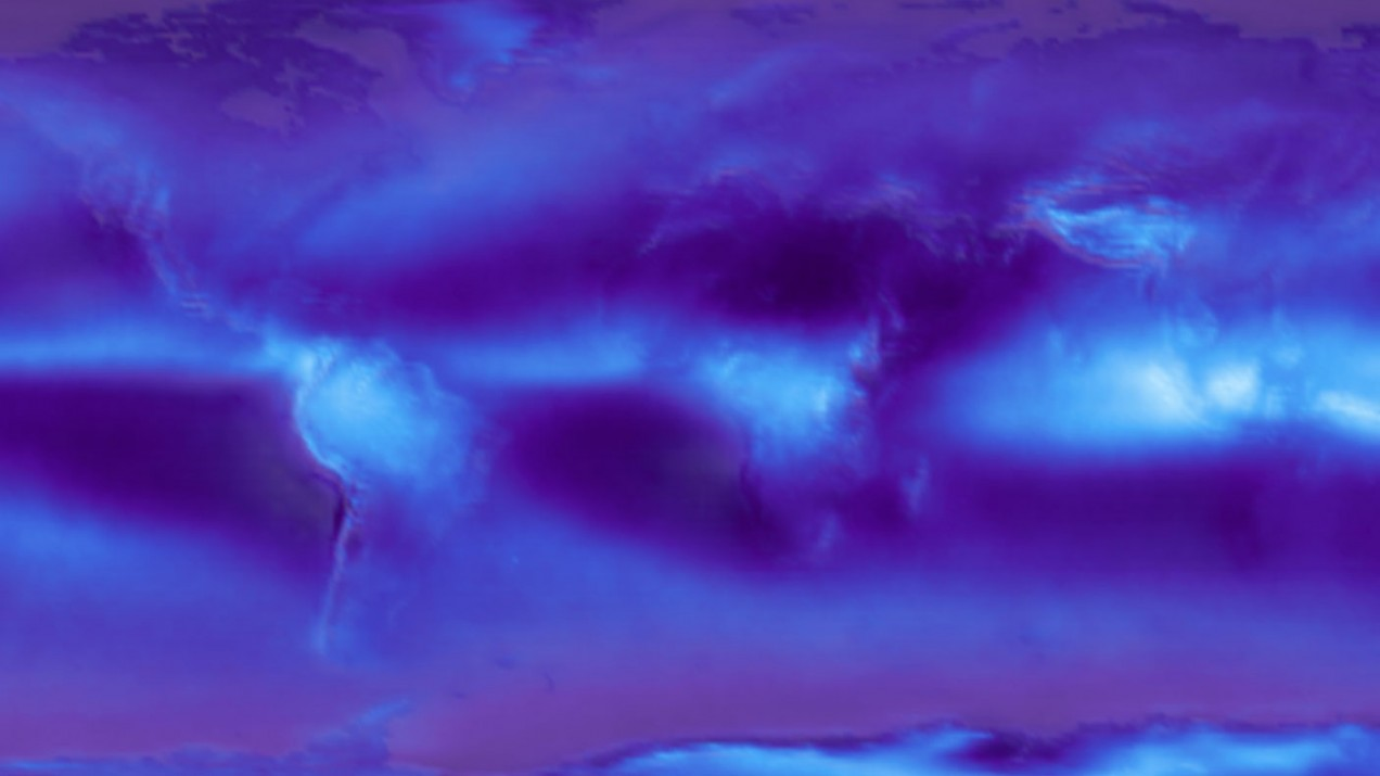 From article's figure 12 - Example cloud maps made from the data of effective cloud fraction, as a function of altitude