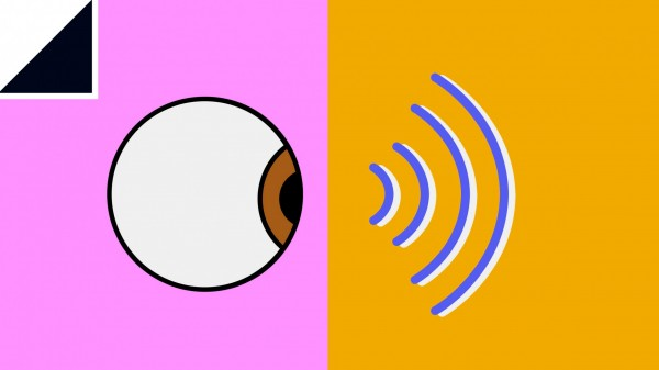 Illustration of eyeball and wifi symbol