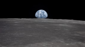 earth rise from the moon