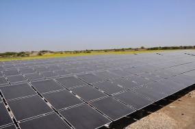 A solar plant in Gujarat, India.