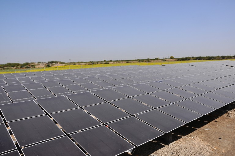 A solar plant in Gujarat, India.