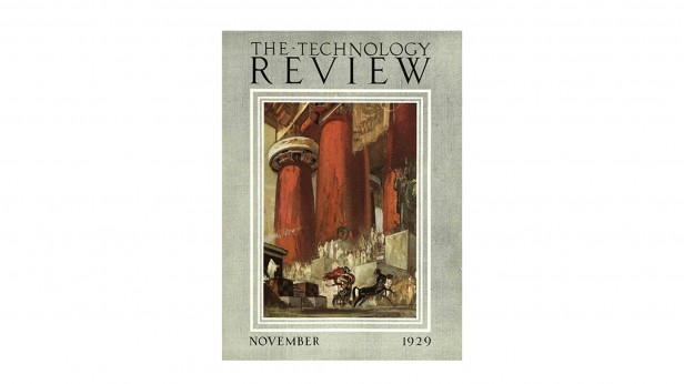 Technology Review 1929 issue