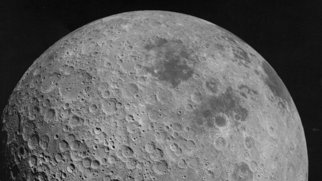 Image of the far side of the moon taken by Apollo 16 in 1972.
