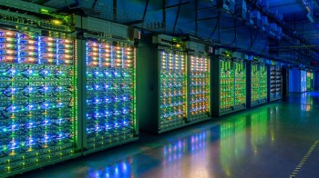 Google's data center in St. Ghislain, Belgium.