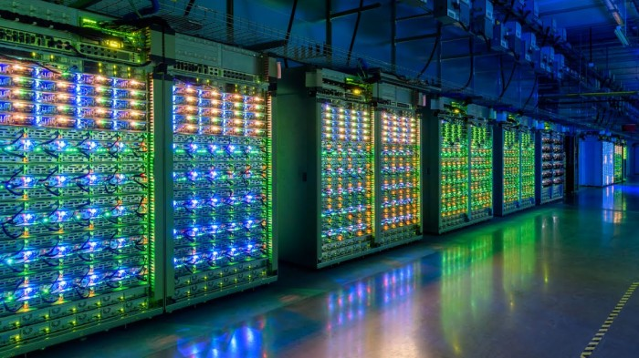 Google's data center in St. Ghislain, Belgium.