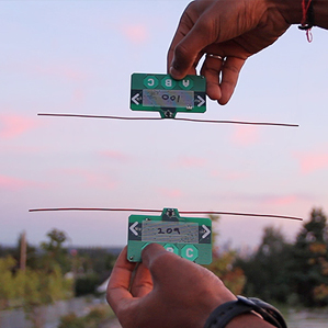 two credit card-sized devices