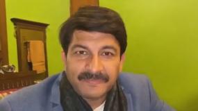 A still of a deepfake video of Indian politician Manoj Tiwari