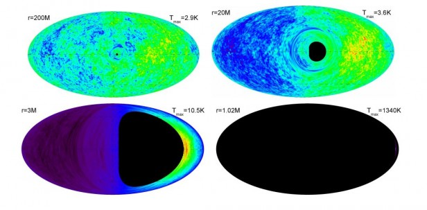 CMB from near a black hole