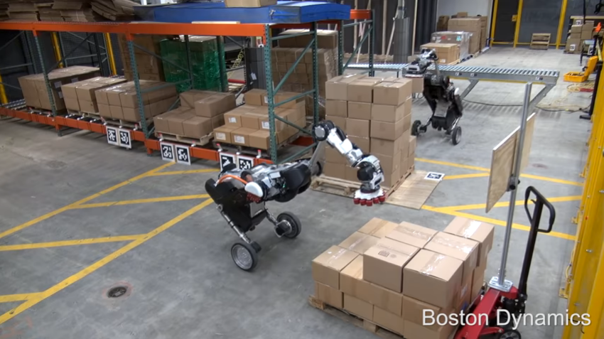 Watching Boston Dynamics' new robot stack boxes is weirdly mesmerizing