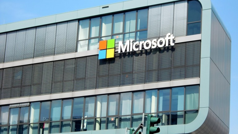Image of a Microsoft building.