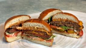 "A meat-free ""bleeding"" burger"