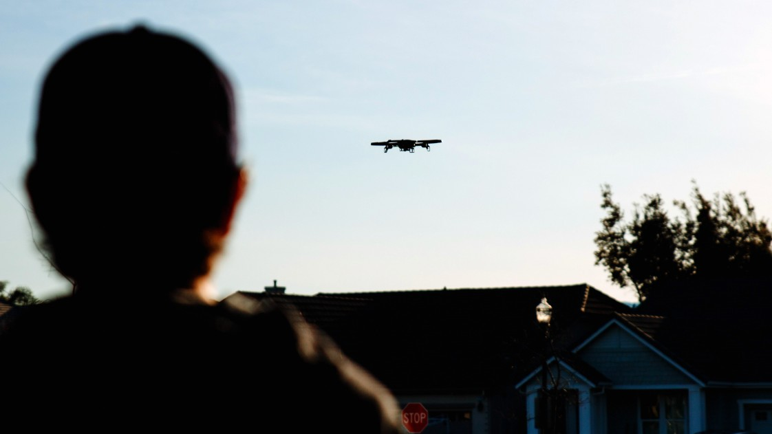 A drone in flight