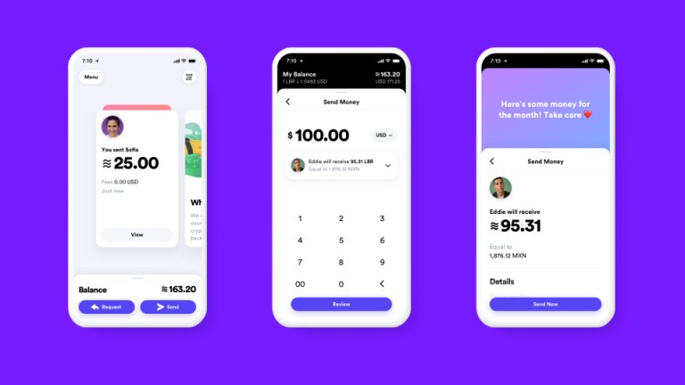How Facebook expects its Libra money app to look