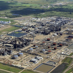 Aerial view of Shell Scotford