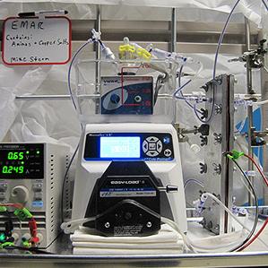 carbon capture lab setup at MIT