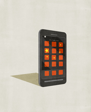 illustrated generic smartphone