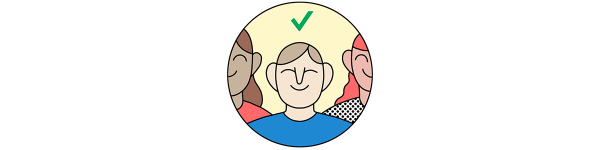 An illustration of a voter