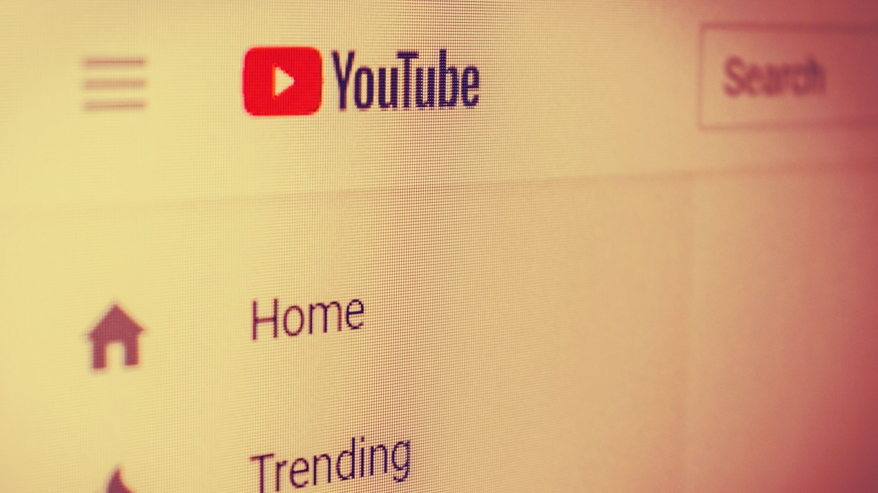 A photo showing part of YouTube's user interface and logo