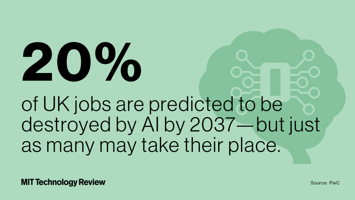 A new report says AI will replace as many jobs as it kills—but take that with a huge grain of salt
