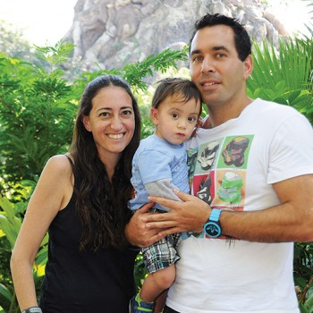 Joshua Strickon with his wife and son