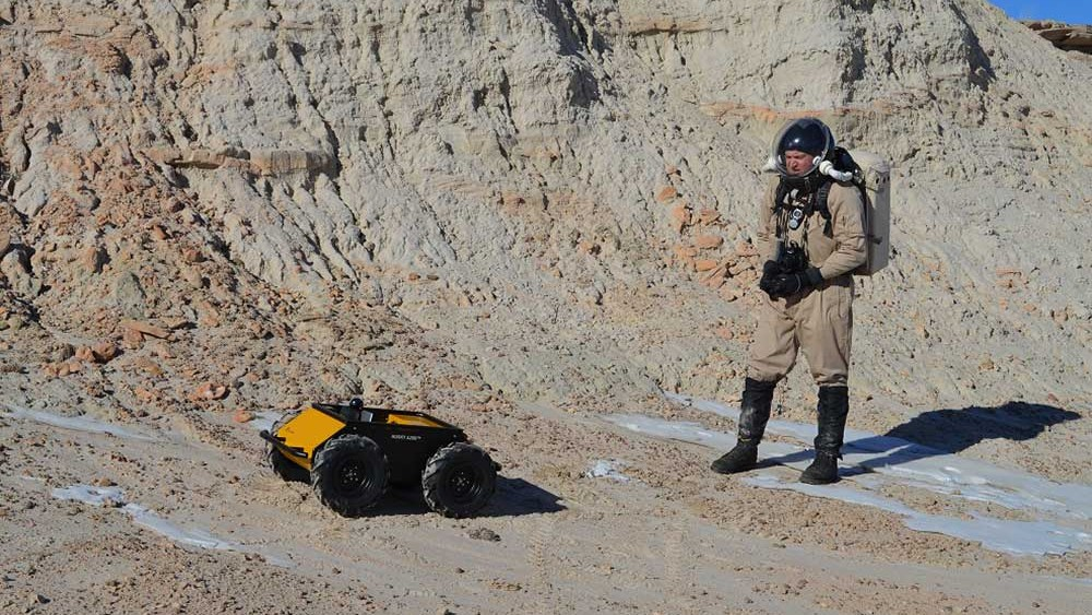 A clearpath robot under remote control