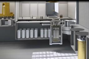 A rendering of Terrestrial Energy's proposed Integral Molten Salt Reactor.