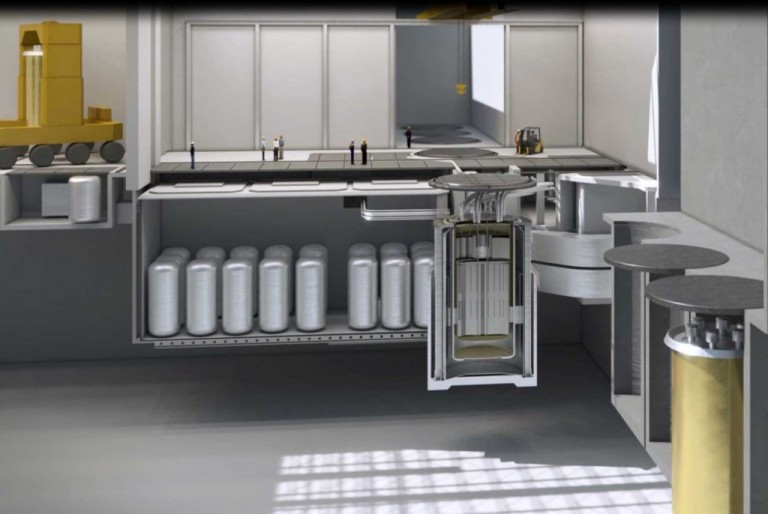 A rendering of Terrestrial Energy's proposed Integral Molten Salt Reactor.
