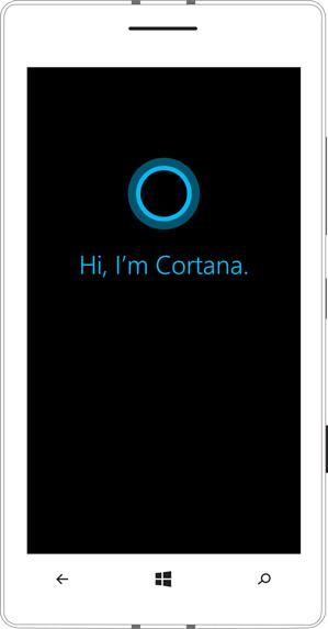 cortana logo on device