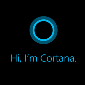 cortana logo on device