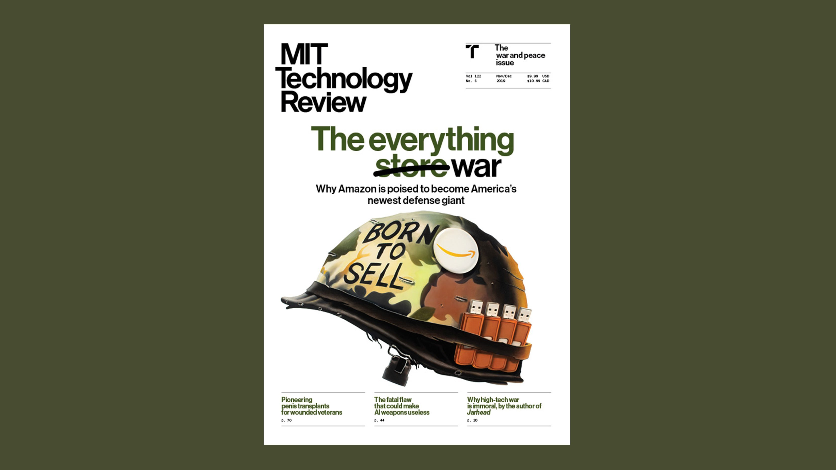 Editor's letter: The case against—and for—tech in war