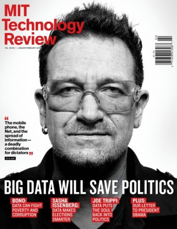 Image of MIT Technology Review cover featuring a photo of Bono