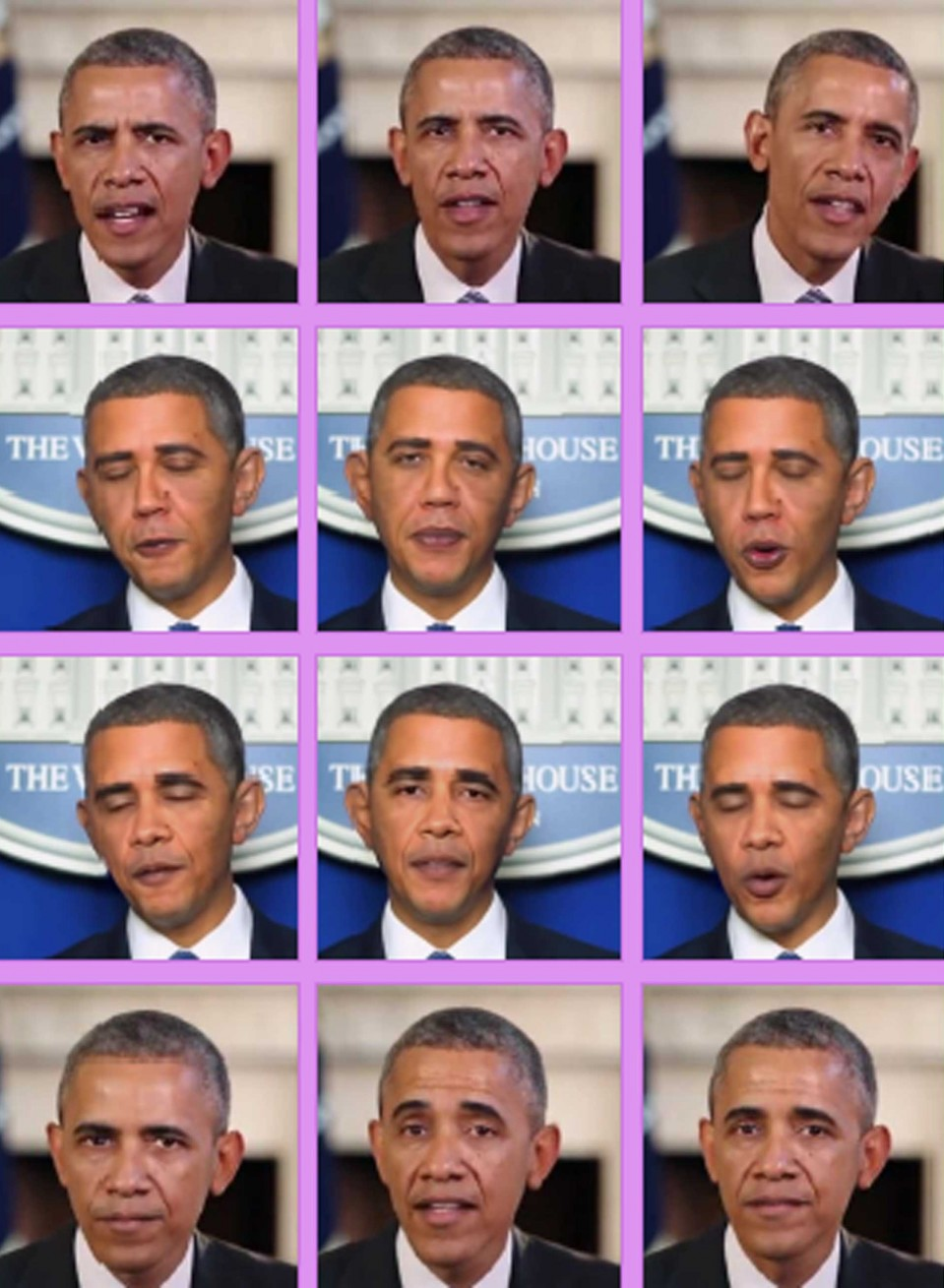 An image of deepfake and impersonating examples of Barak Obama