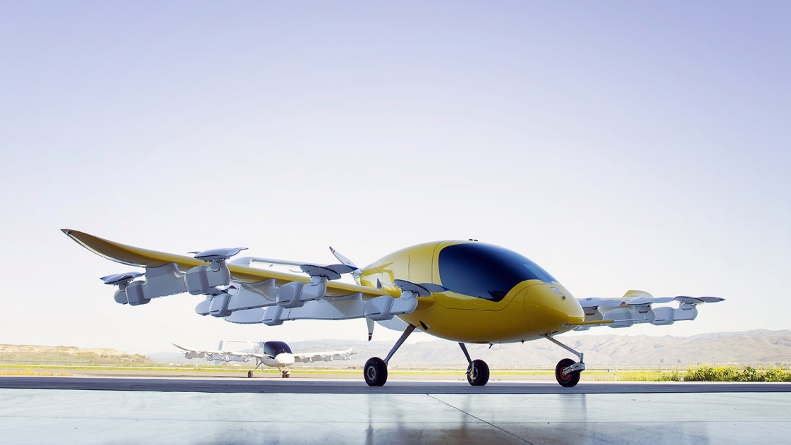 Kitty Hawk's new Cora flying taxi.