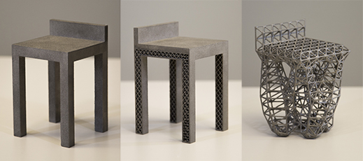 3-D fabricated chairs